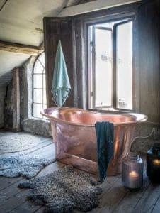 bañera de cobre decoraiva