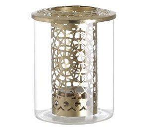 jarrón de cristal portavelas