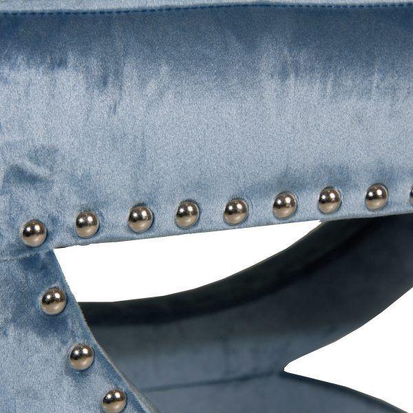 detalle pie de cama troyes azul vicalhome