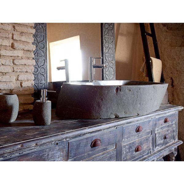 detalle perfil lavabo natural gris acuario