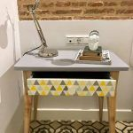 Mesa restaurada con estilo nórdico