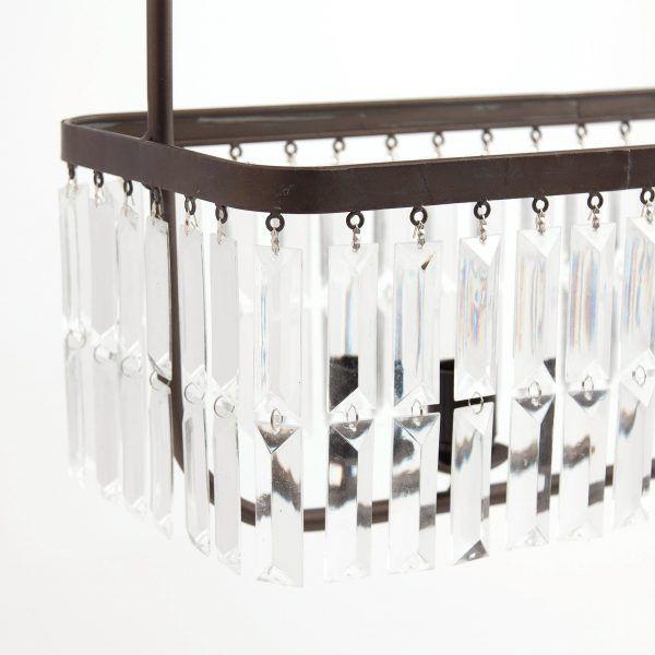 detalle lagrimas lampara de techo vintage