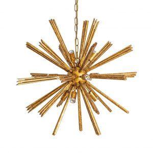 lampara de techo estrella con cadena