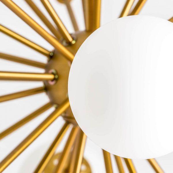 detalle lampara de techo bolas