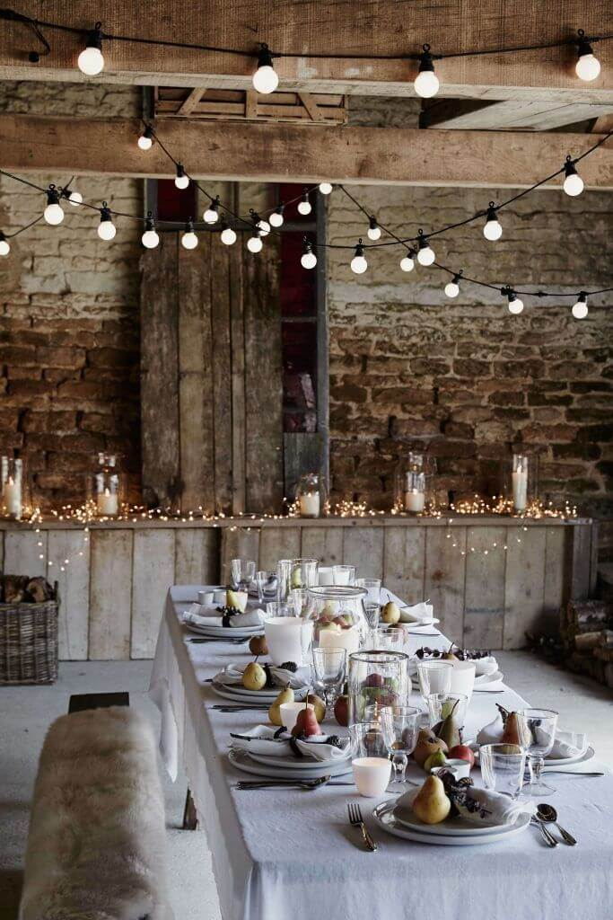 Mesa de Navidad elegante estilo nórdico