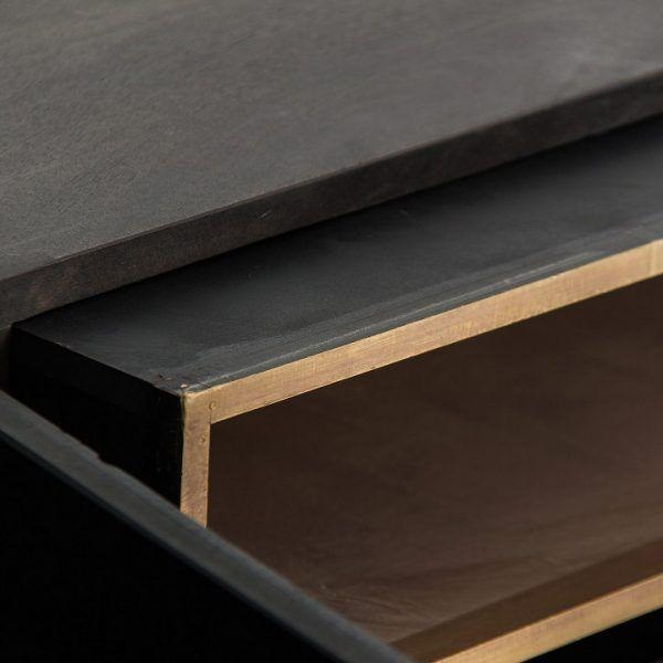 detalle cajon mueble valf negro