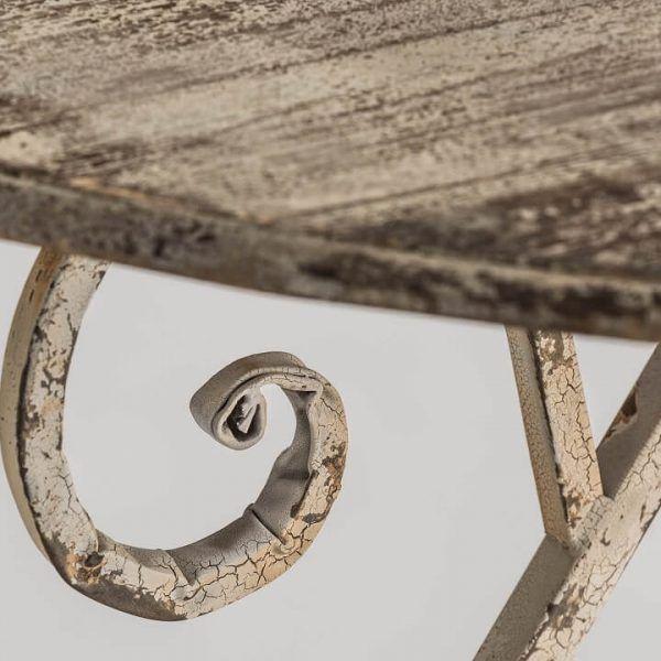 detalle envejecido mesa comedor olbia