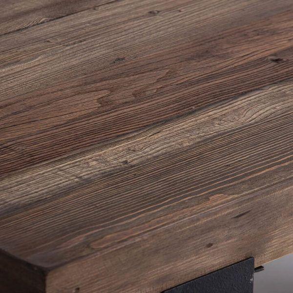 detalle madera mesa centro tello