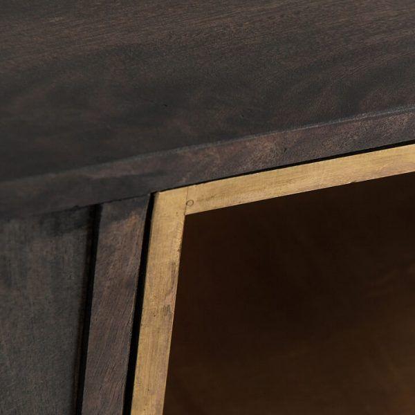 detalle madera mueble tv danta