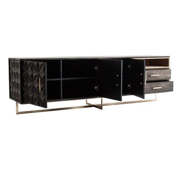 detalle mueble valf negro