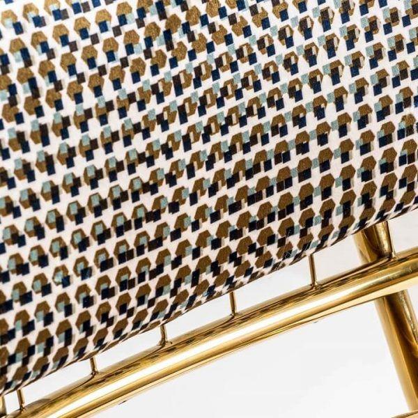 detalle tapizado silla brillon acero