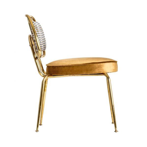 lado silla brillon acero