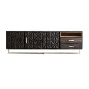 mueble tv valf negro