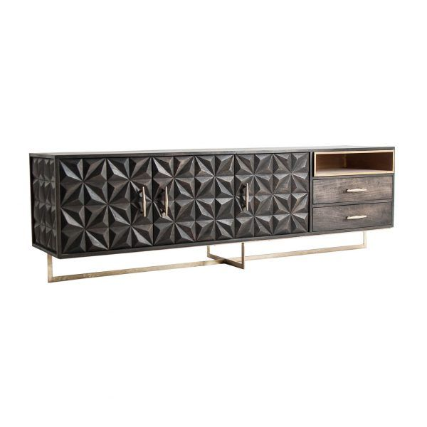 perfil mueble tv valf negro