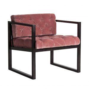 perfil sillón terciopelo rosa