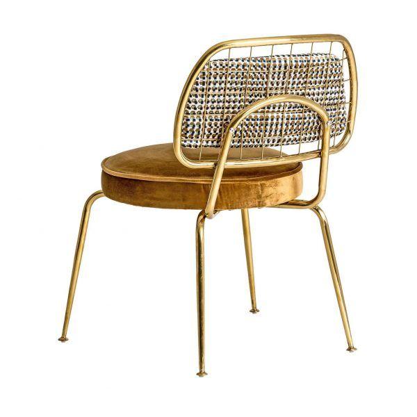 trasera silla brillon acero