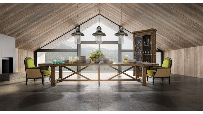 Muebles de salón rústicos modernos