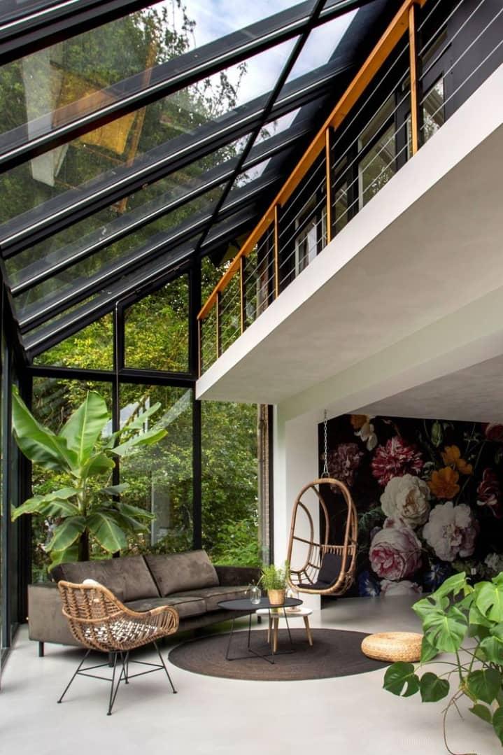 Casas de montaña de diseño con una cuidada decoración interior 1