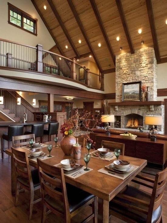 Casas de montaña de diseño con una cuidada decoración interior 2