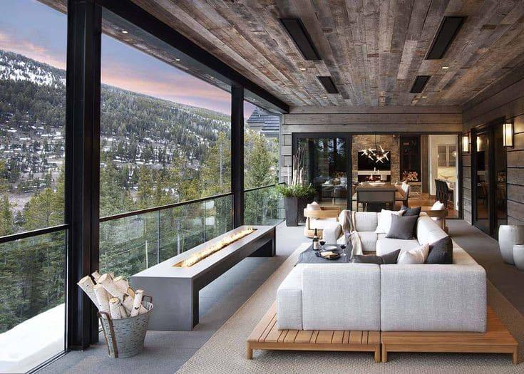 Casas de montaña de diseño con una cuidada decoración interior 3