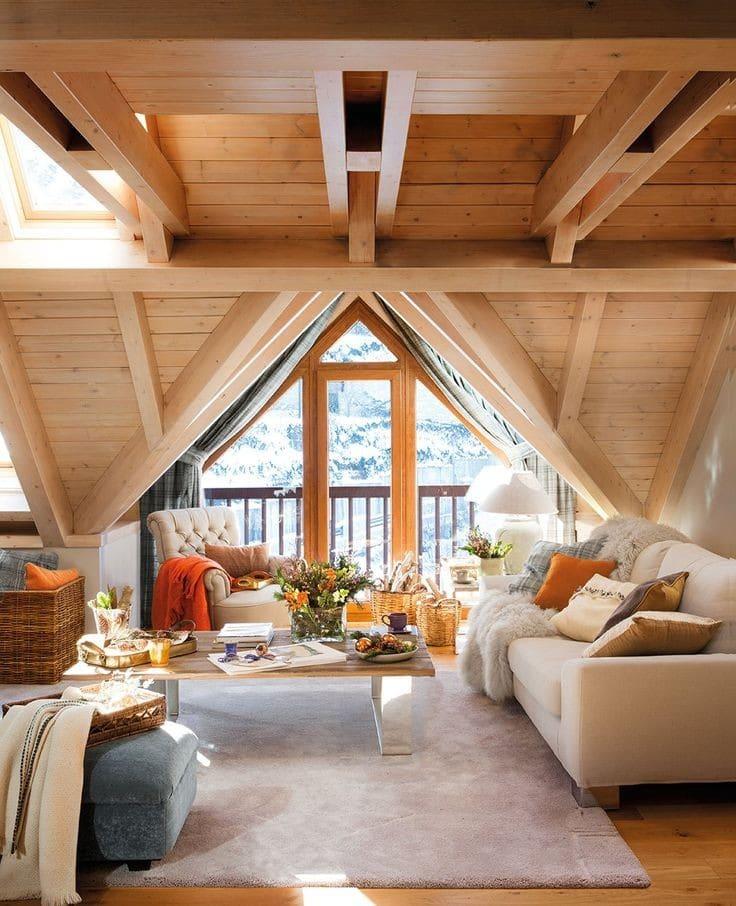 Casas de montaña de diseño con una cuidada decoración interior 4