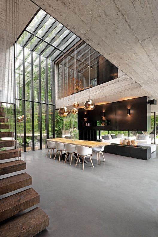 casas de montaña de diseño interior